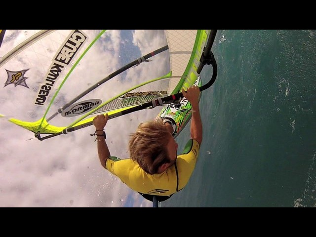 Kauli GoPo harness mount 4 slow motion backloop up close and personal somewhere above Sprecks Maui with his new Firelight
