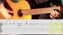 Yesterday Beatles guitar lesson for beginner Уроки гитары с нотами и табами для начинающих