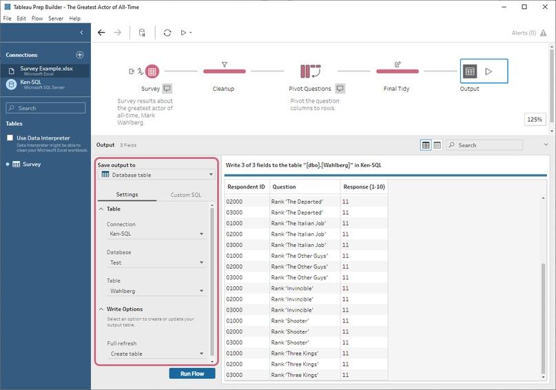 Tableau 2020.3 - Сохранение готовых данных в базу данных в Tableau Prep, изображение №1