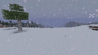 Relaxing Minecraft Snow Storm Ambience w/vanilla music (10 Hours)