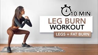 10 MIN LEG BURN (Toned Thighs + Fat Burn)   Bacak Odaklı Yağ Yakımı   Eylem Abaci