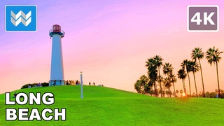 Sunset Walk at Shoreline Village in Downtown Long Beach, California USA 2020 Travel Guide 🎧【4K】