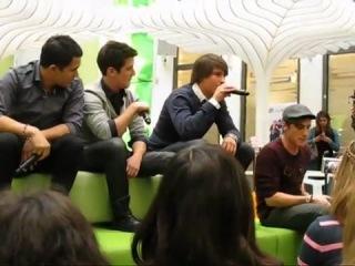 Big Time Rush Boyfriend Live Acoustic Performance in Berlin 02 01 2011