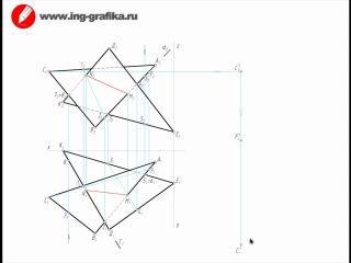 Видеоурок по построению пересечения плоскостей