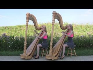 Американские сестры-близнецы игрют на арфах!!! Enya - Camille and Kennerly - Only Time (Harp Duet)