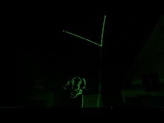 Шоу Laser X man арт группа Арена74 Сергей Парватов laserman show