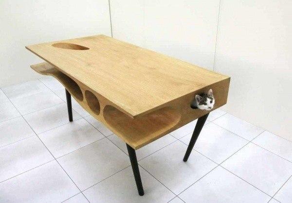 Лабиринт для кота в столе