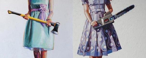 Картинки девочка с пилой