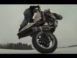StuntFreaksTeam - Kawasaki 636 winter testing