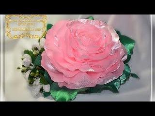 🌹Пышная РОЗА КАНЗАШИ из ленты своими руками. DIY Kanzashi Rose