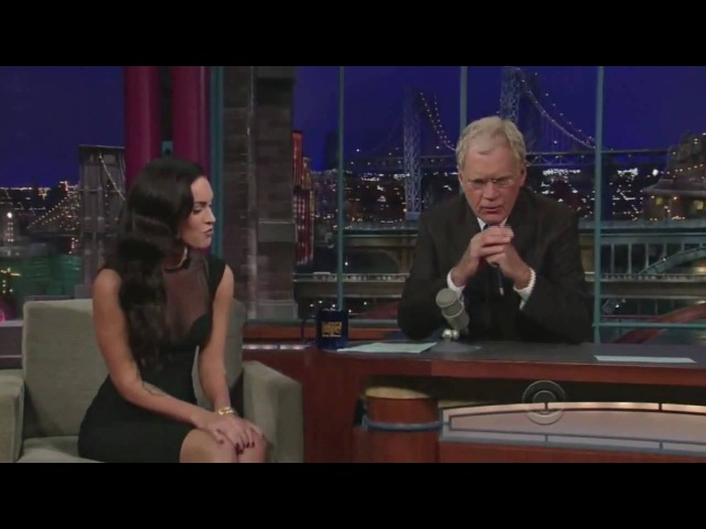 Megan Fox On Late Show With David Letterman 06 25 2009 HQ