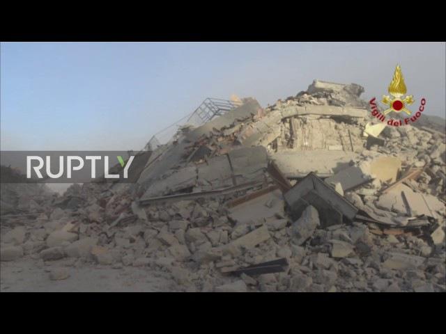 Италия Исторические здания в руинах Аматриче как пострадали от мощного землетрясения