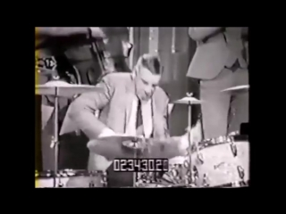 Buddy rich live 1966 playing rogers drums