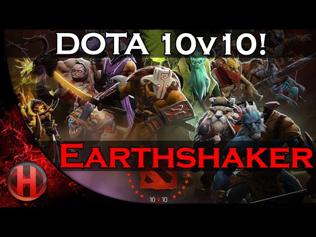 DOTA 10v10 Earthshaker vs Deadmou5 EPIC 8man RAVAGE