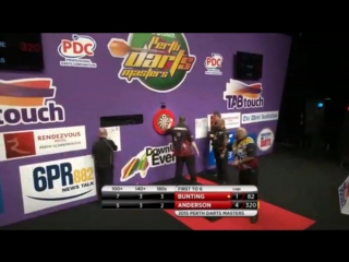 Stephen Bunting vs Kyle Anderson (Perth Darts Masters 2015 / Round 1)
