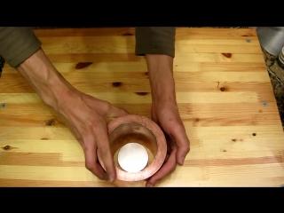Бросание магнита в медное кольцо