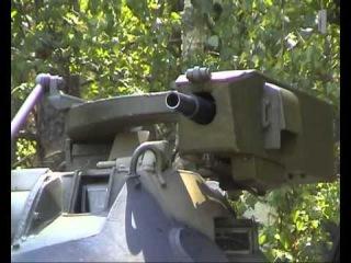БТР-60 и БРДМ-2 стрельбы