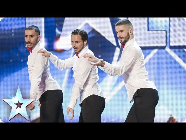 Yanis Marshall Arnaud and Mehdi in their high heels spice up the stage Britain's Got Talent 2014