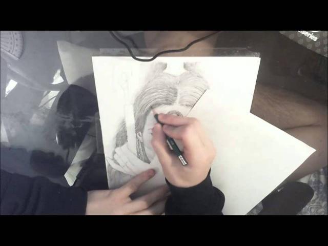 Luis Royo artwork pencil representation