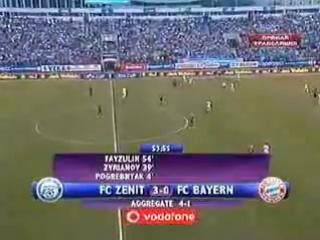 Золотые мгновения Зенита: лучший матч в истории еврокубков, или Зенит 4-0 Бавария