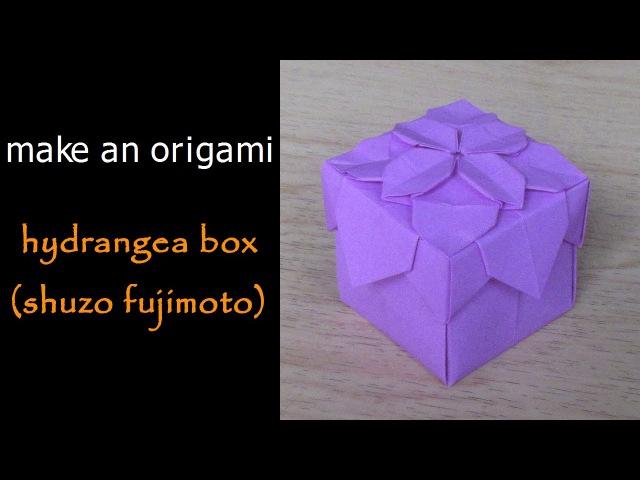 @ Make an Origami Hydrangea Box Lid Shuzo Fujimoto