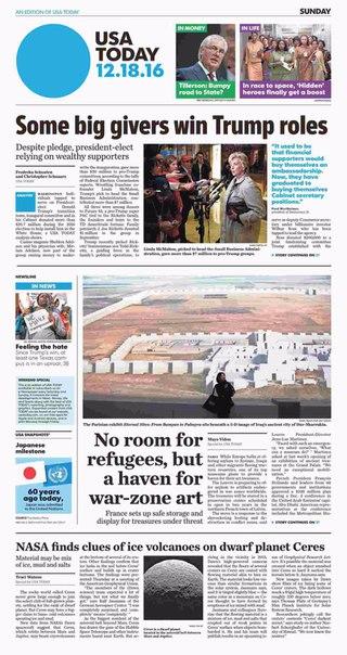 USA Today  December 18 2016