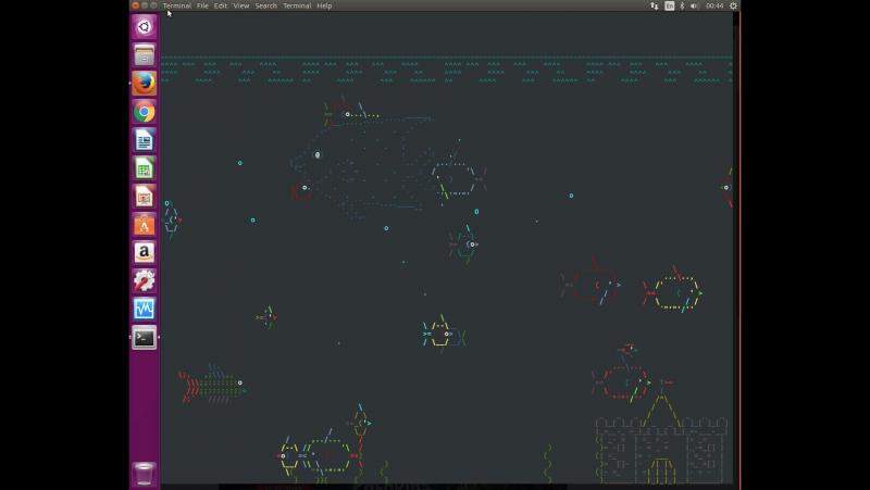 Аквариум в терминале perl ubuntu xenial