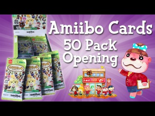 Opening 50 Packs of Amiibo Cards - Animal Crossing: Happy Home Designer Booster Box