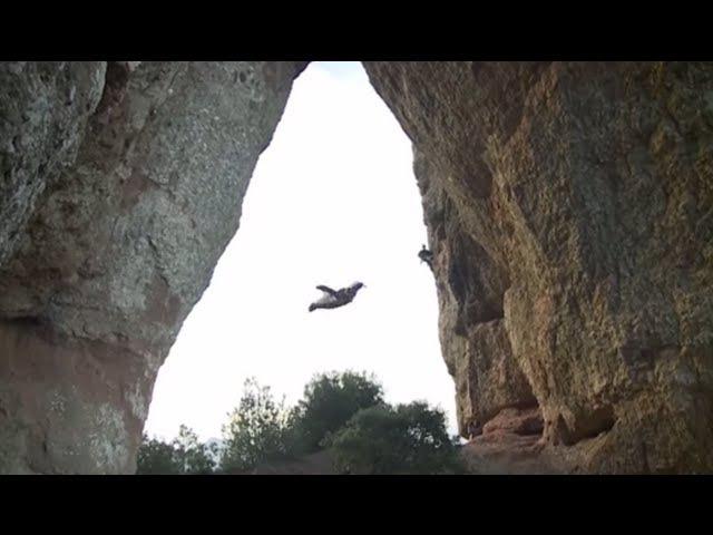 Unbelievable Wingsuit Cave Flight Batman Cave Alexander Polli