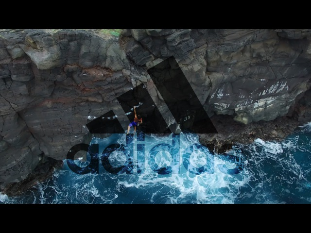 Kevin Jorgeson trying Deep Water Soloing Hawaii adidas Outdoor