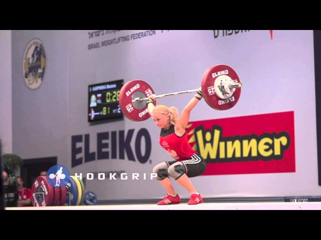 Marzena Karpinska 48 Poland 81kg Snatch 83kg Snatch Attempt