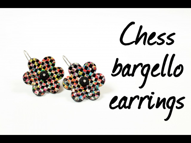 Chess bargello ∗ Шахматное барджелло ∗ Polymer clay tutorial ∗ Мастер класс