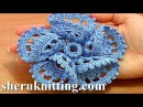 3D Five Folded Petal Flower to Crochet Tutorial 63 Part 2 of 2 Crochet Bell Center With Picots