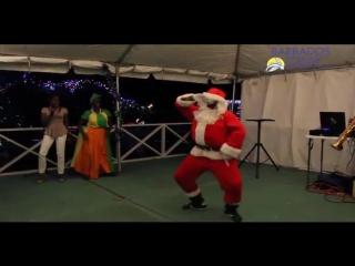 "Bajan santa doing ""the ish"""