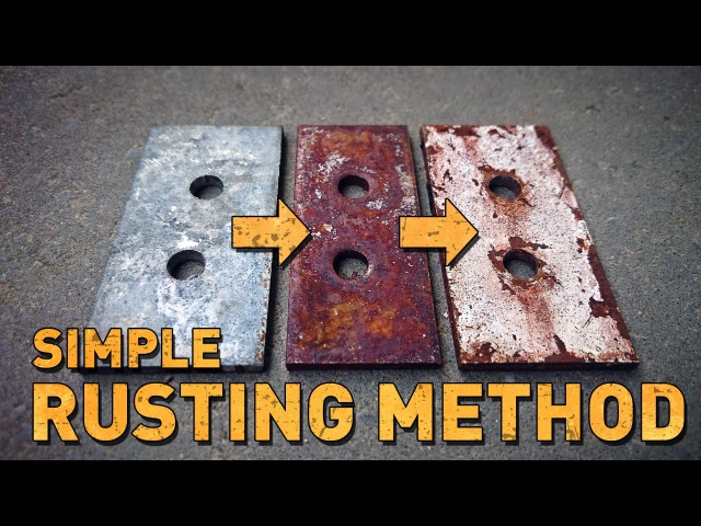 Simple rusting technique for post-apocalyptic costumes and props
