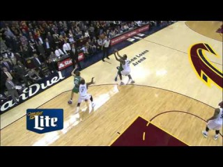 Kyrie Irving sneaks in and steals the ball from Dirk Nowitzki to seal the home victory