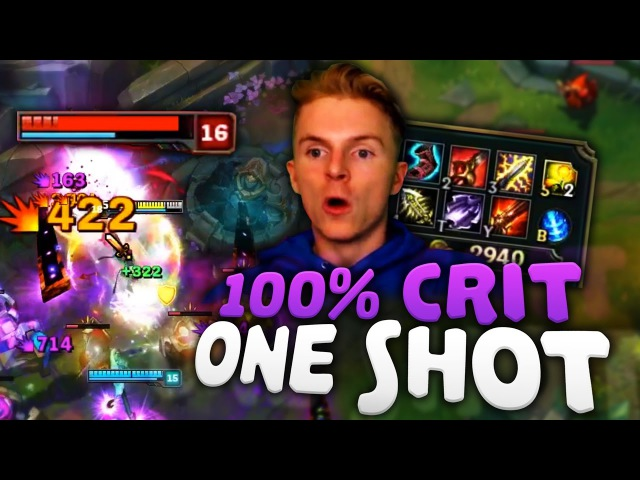 100% CRIT FULL AD EVELYNN ONE SHOTS ASSASSIN | League of Legends