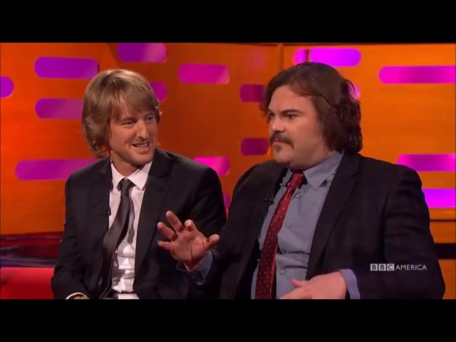 Owen Wilson Jack Black think Ben Stiller's a The Graham Norton Show