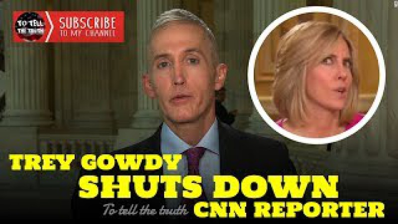 Trey Gowdy Intelligently Destroys Snobby Reporter on CNN