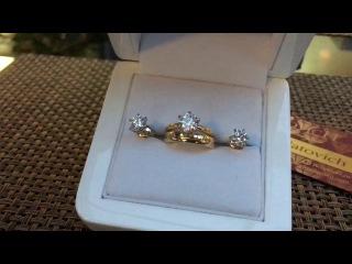 Роскошный свадебный набор с бриллиантами