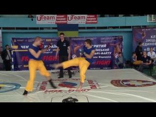 Mazur Roman VS Kharchenko Konstiantyn (blue gloves) semifin of Ukrainian free-fight Championship