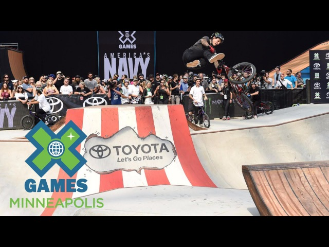 Kyle Baldock wins the golden pedal in Dave Mirra's BMX Best Trick X Games Minneapolis 2017