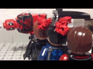 Lego Deadpool Red band trailer Lego recreation shot for shot