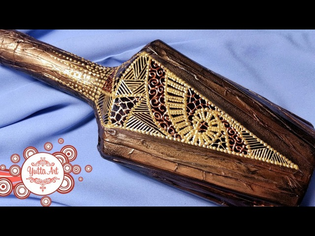 Декор бутылки Подарок мужчине Мастер класс от Ютты Арт Декорируем бумагой имитация кожи