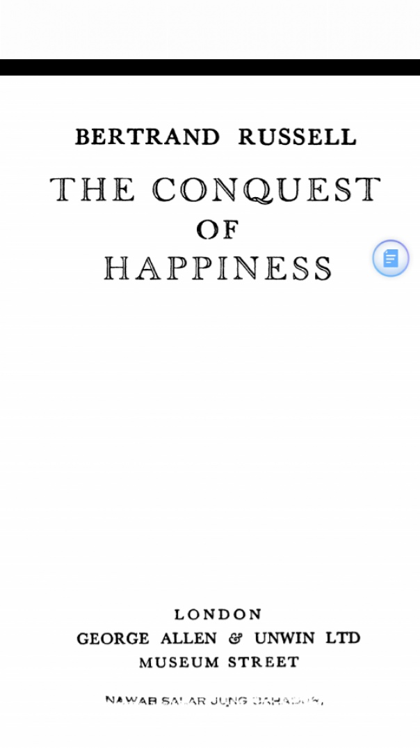 [Bertrand Russell] The Conquest of Happiness