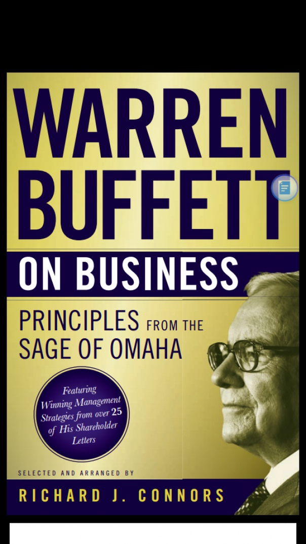 warren buffett on business  principles from the sage of omaha