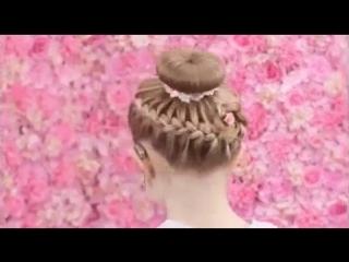 прекрасная причёска для девочки
