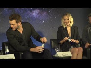 Passengers press conference in L.A with Jennifer Lawrence and Chris Pratt