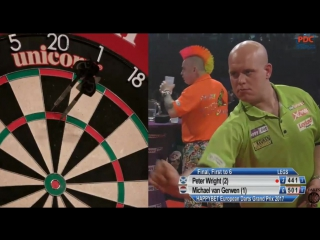 Peter Wright vs Michael van Gerwen (European Darts Grand Prix 2017 / Final)