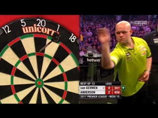 Michael van Gerwen vs Gary Anderson (2017 Premier League Darts / Week 15)